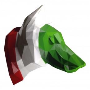Trophée de Loup rayures drapeau