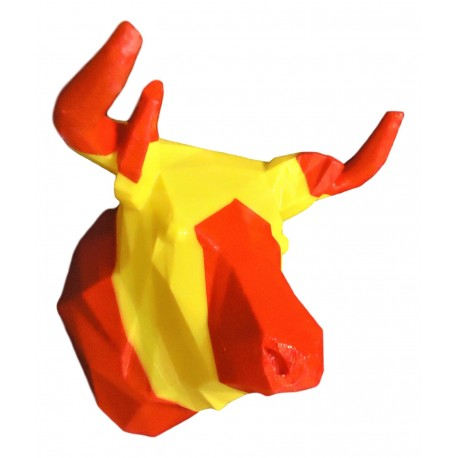 Bull Trophy with flag stripes