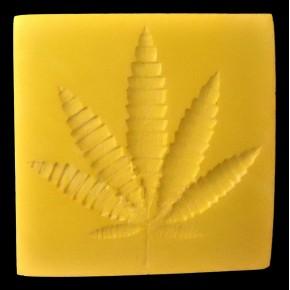 ceramic resin hemp leaf coaster