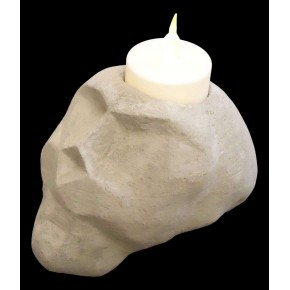 Candle holder Carmen the Skull in concrete