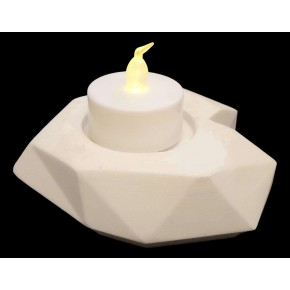 Candle holder Heart in ceramic resin