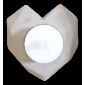 Candle holder Heart in concrete