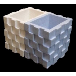 Mini double pot cubique
