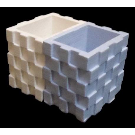Pot cubique double