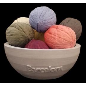 10 Noix en résine céramique, couleurs personnalisables, intérieur, décoration