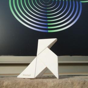 Ocell de paper d'estil origami personalitzable amb imants