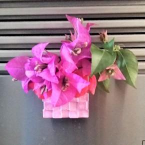"""Mini pot de fleurs magnet cubique """"escalier"""""""