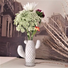 Cactus concrete flower pot