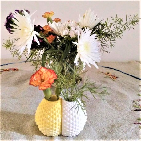 Double pineapple vase