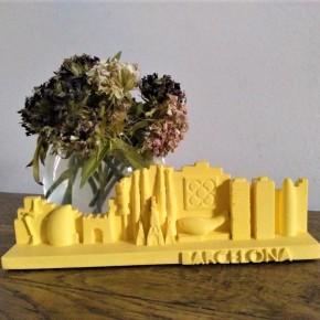 Skyline de Barcelona en resina ceràmica personalitzable