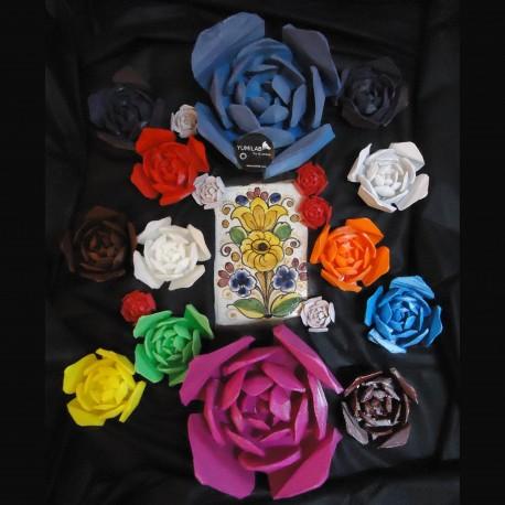 Trophée Rose jaune profil
