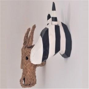 Cabeza decorativa de Cebra personalizable y con imanes integrados