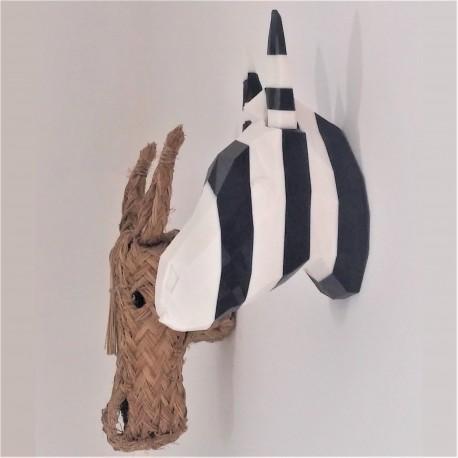 Cabeza decorativa de Cebra personalizable