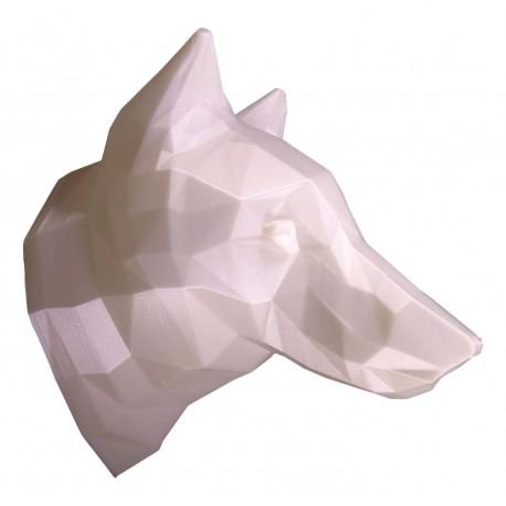 Trophée 3D loup blanc profil