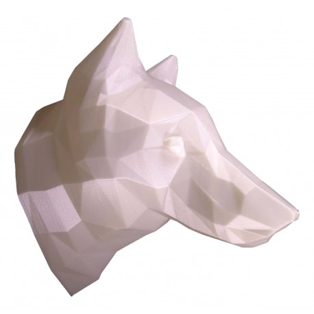 3D Wolf Trophy white side