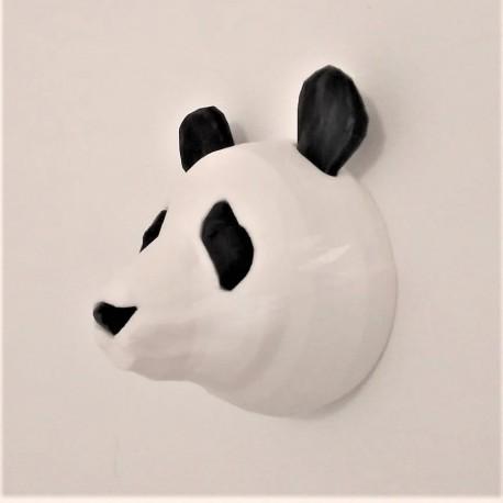 Liu, la Cabeza decorativa de Panda personalizable en estilo origami