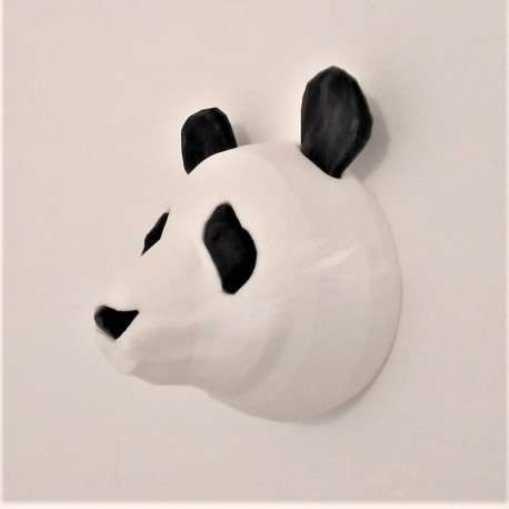 Liu, the Panda decorative head customizable in origami style