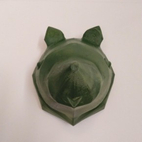 Bear decorative head in origami style