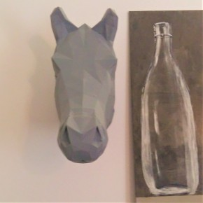 Horse decorative head in origami style