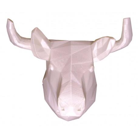 Trophée 3D taureau blanc face