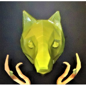 Wolf decorative head