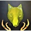Wolf decorative head