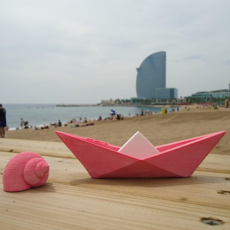 Origami style sailboat