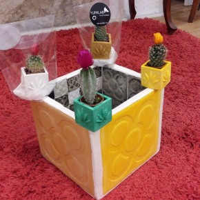 Mini Pot cubique Chanvre