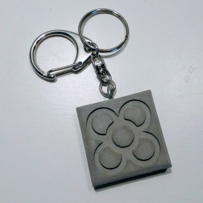 10 Panot keychains customizable on the back, 2 types of finishes, barcelona