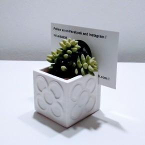 Mini vase porte- carte / Porte- nom avec Panot