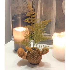 Mini gerro cactus en goma flexible