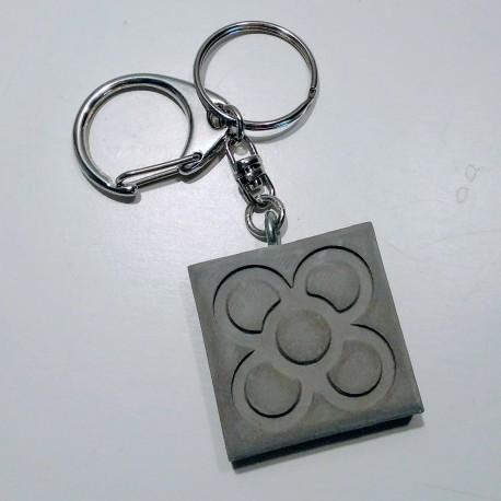 Porte-clés avec pendentif Panot en résine céramique, Barcelone