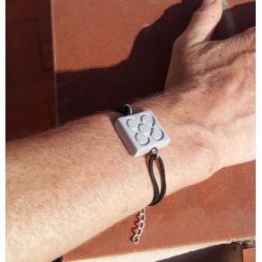 Bracelet de main Fleur de Barcelone, Panot en résine céramique