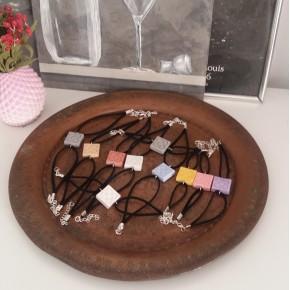 10 Pulseras de mano Flor de Barcelona, Panot resina cerámica
