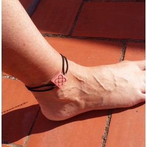 Barcelona Flower Foot Bracelet, Panot in ceramic resin, Barcelona sidewalks, Catalonia