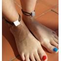 10 Bracelets de cheville Fleur de Barcelone, Panot en résine céramique