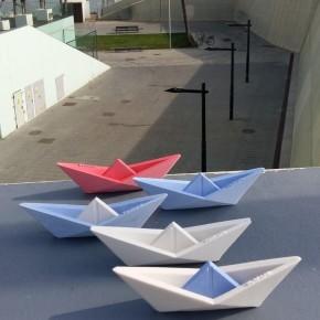 12 Velers d'estil origami personalitzables, barqueta, barca de vela