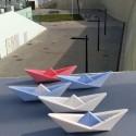 12 Customizable origami style sailboats