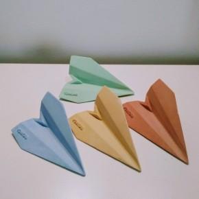 12 aviones de estilo origami personalizables