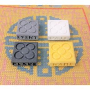 Set of 100 customizable Barcelona mini magnets