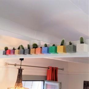 Lot de 3 Mini Pots Cubiques Panots magnétiques