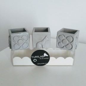 3 Mini Testos cúbics Gats i Panots, Barcelona, disseny exclusiu