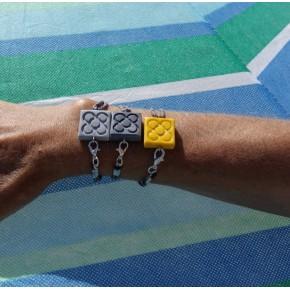 8 Pulseras mano Flor de Barcelona, cierre lateral con mosquetón