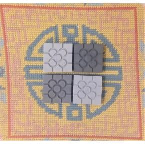 4 mini imanes Baldosa roseta Bilbao gris