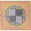 4 mini magnets Bilbao gray rosette tile
