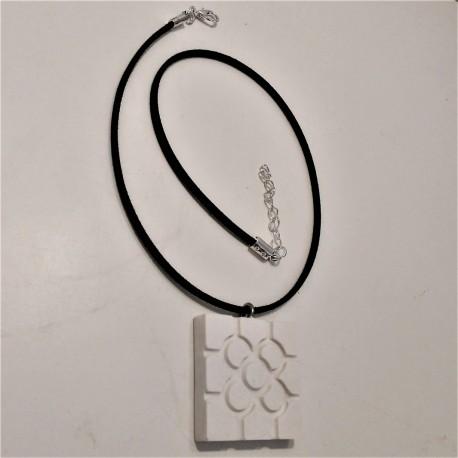 Necklace with Bilbao rosette tile pendant