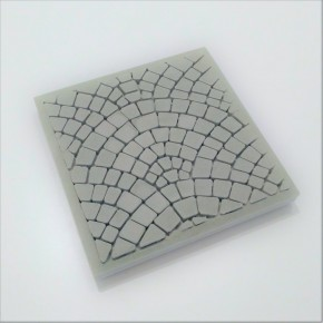 3 coasters Paris cobblestones in concrete, Paris sidewalks