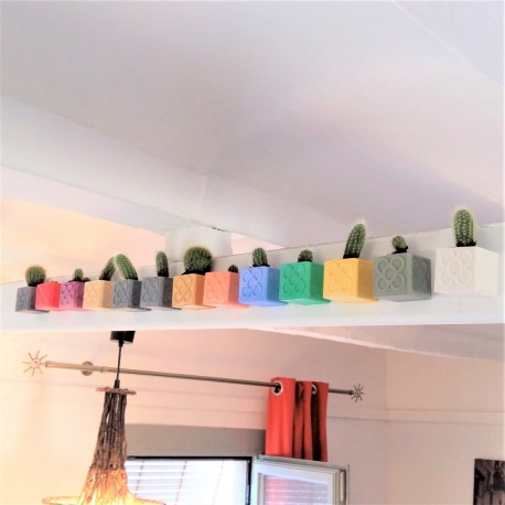 Pot cubique Panots avec aimant intégré