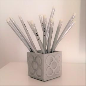 Cubic pot Panots in ceramic resin