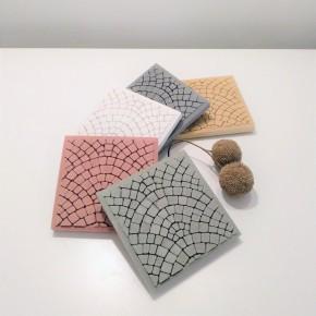 3 posavasos adoquines de París en resina cerámica
